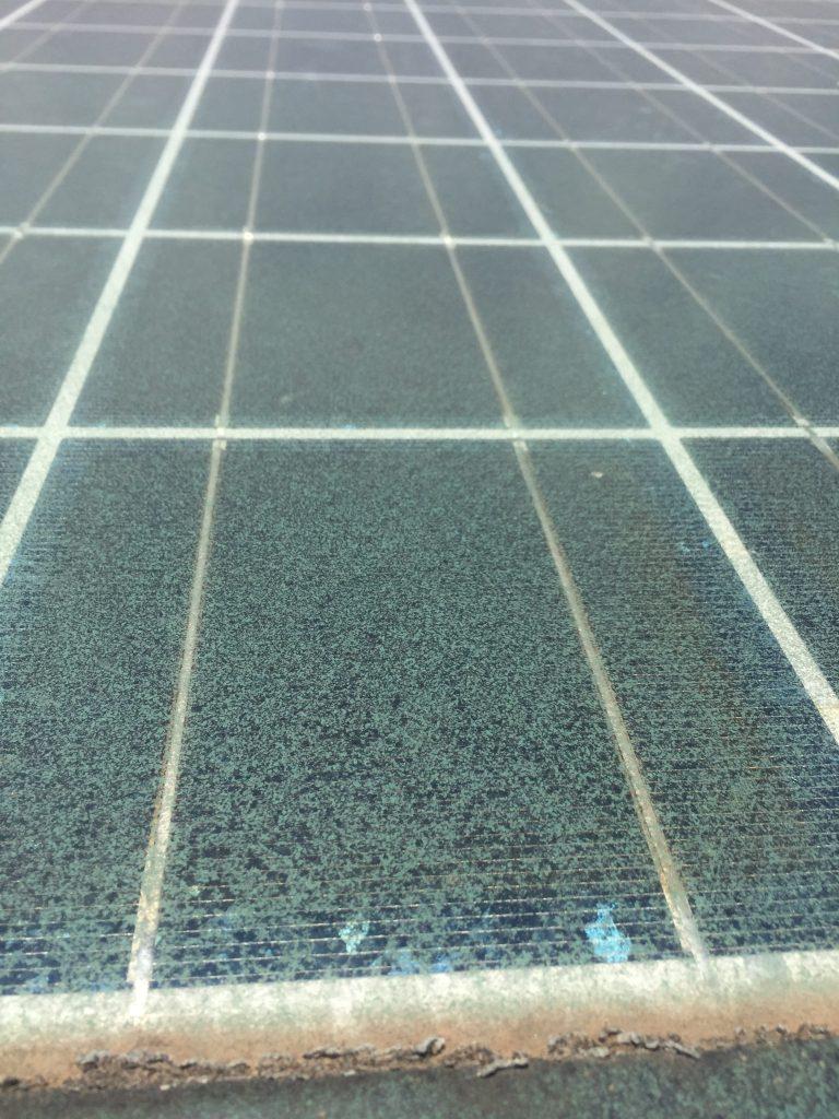 Soiled solar panels
