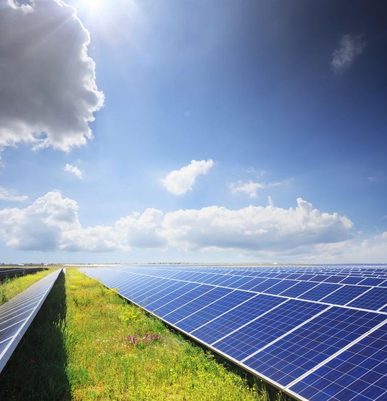Servicing solar panels